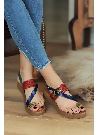 Pembe Potin A311-20 Kadın Sandalet A311-20 Renkli